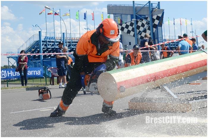 Соревнования лесорубов в Бресте 2016. Фото BrestCITY.com