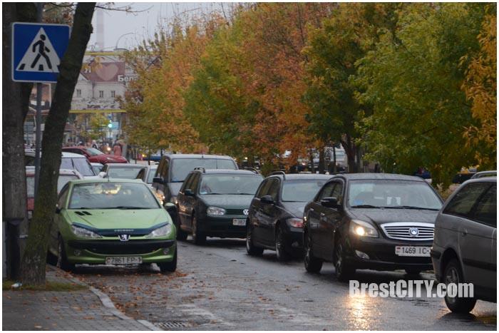 ДТП на Кобринском мосту в Бресте 10 октября 2016. Фото BrestCITY.com