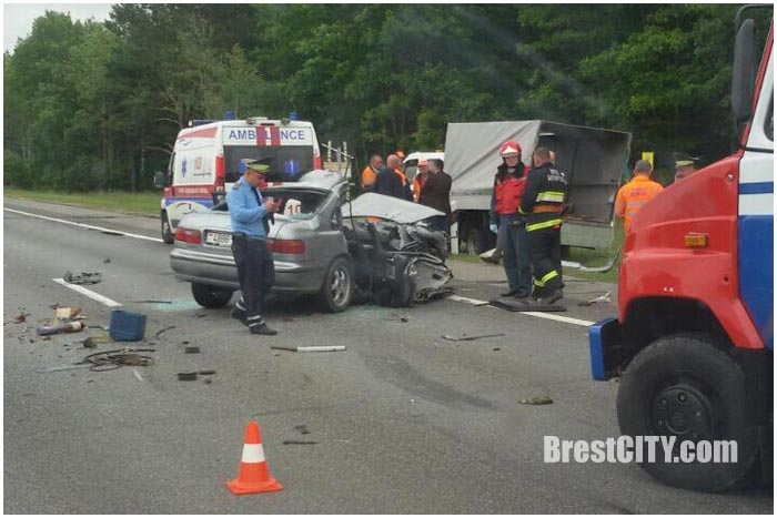Авария на М1 возле Бреста 16 июня 2016