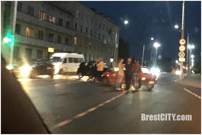 Авария в Бресте в пятницу 13-го мая