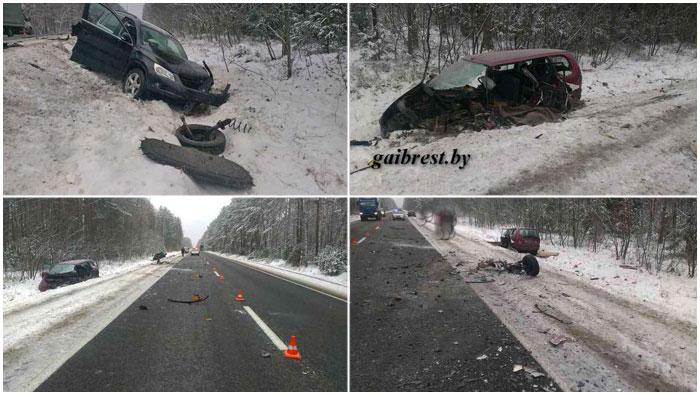 Авария в Барановичском районе 16 декабря 2016