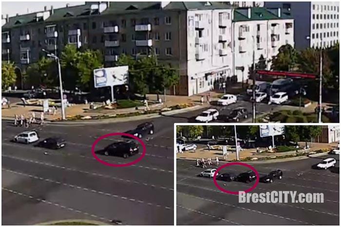 Авария в Бресте на перекрестке бульвар-Машерова