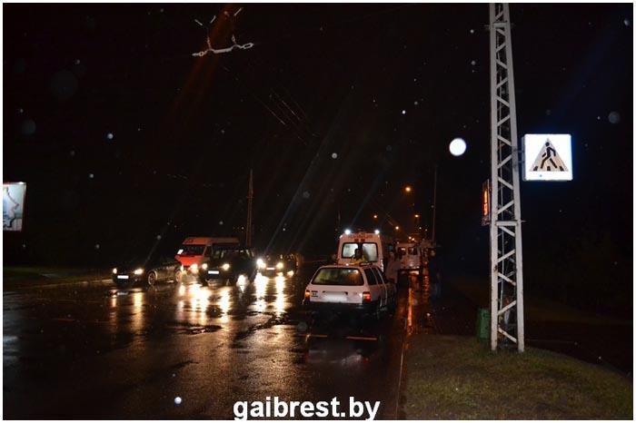 Авария на Ковалевке в Бресте 22 октября 2016