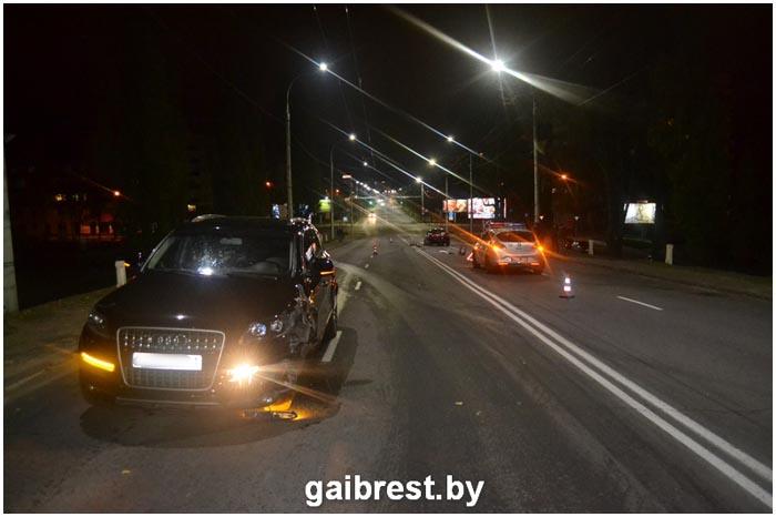 ДТП на Кобринском мосту ночью 3 ноября 2016 в Бресте