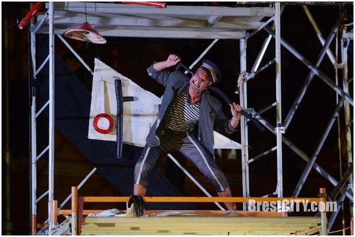 Уличное представление Teatr Novego Fronta -