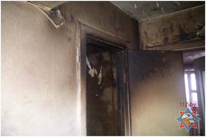 Пожар в Жабинке 6 января 2016