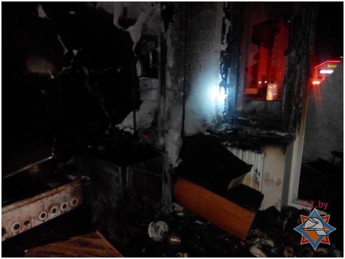 Пожар в многоэтажке на улице Московской