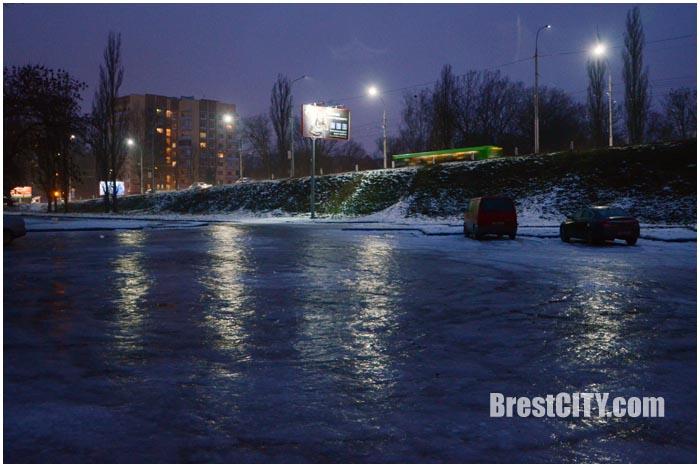 Гололед в Бресте 8 декабря 2016. Фото BrestCITY.com