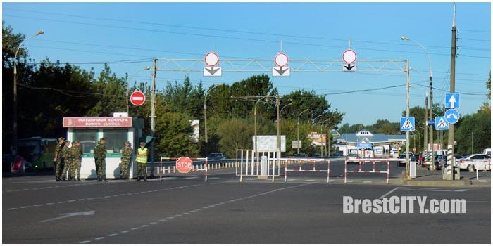Изменение организации дорожного движения на границе. Фото BrestCITY.com