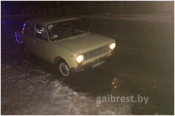 Авария с участием пьяного пешехода в Кобрине 12 января
