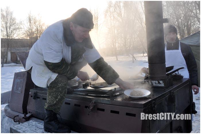 Военно-полевая кухня зимой
