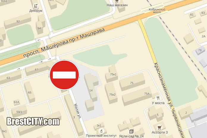 В Бресте будет закрыто движение по улице Малой возле Кобринского моста