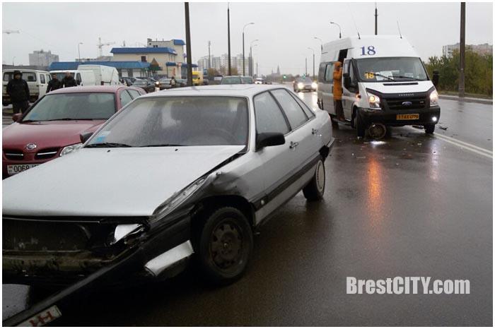 Авария на Луцкой в Бресте 24 октября 2016