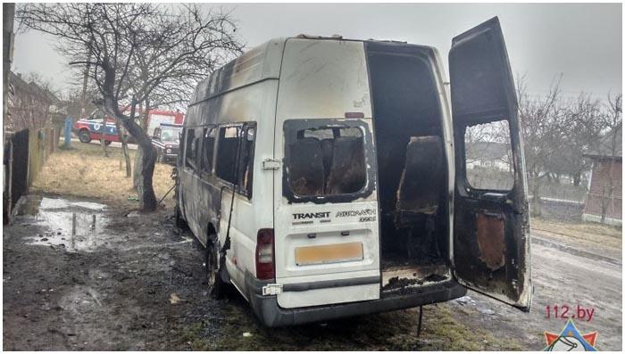 В Бресте 14 февраля на улице Новой сгорела маршрутка