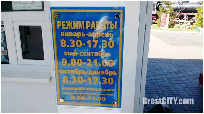 Музей ЖД техники. Брест. Режим работы и стоимость билетов