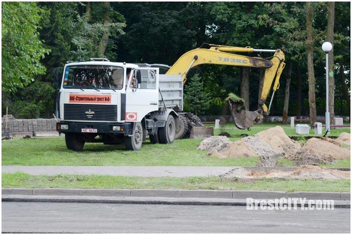 Западный обход. Дорожные работы в районе ул.Ленина. Фото BrestCITY.com