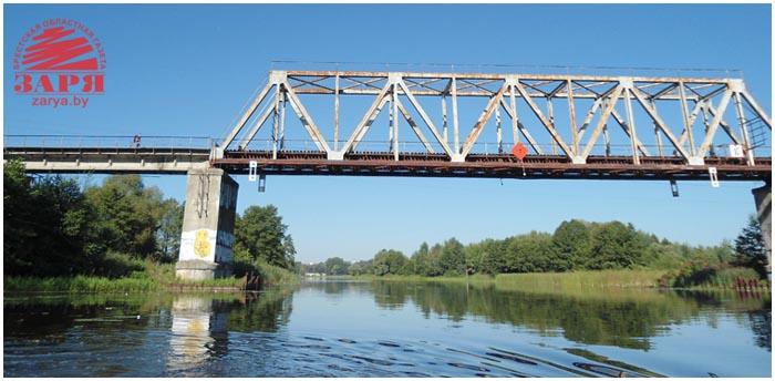 ЖД мост за областной больницей в Бресте