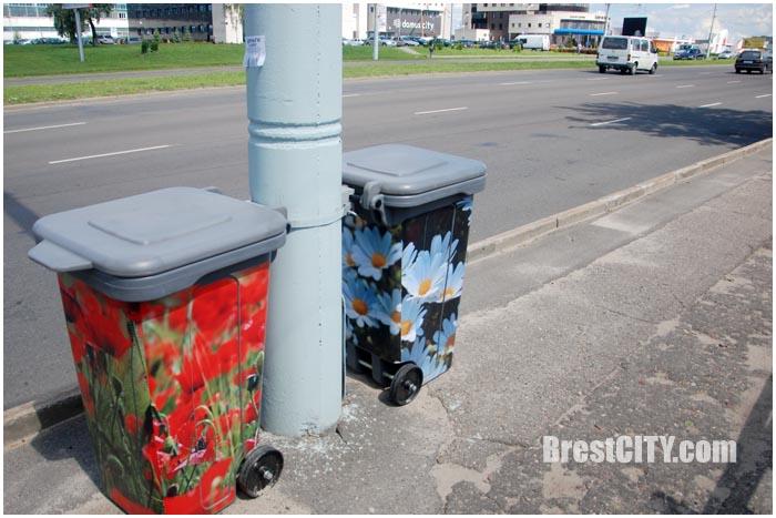 Разрисованные мусорные баки в Бресте. Фото BrestCITY.com