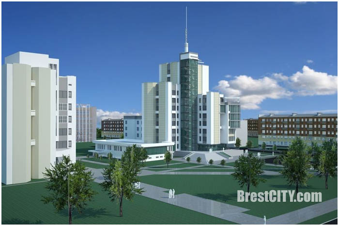 Здание налоговых инспекций в Бресте. Фото строительства и проекты