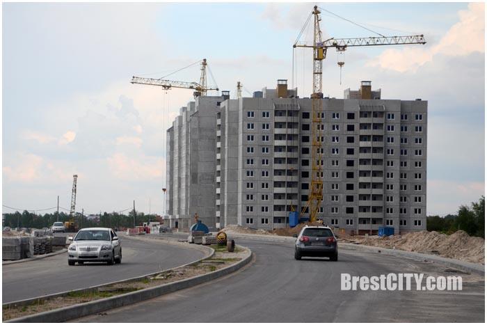 Новый микрорайон в Бресте за рынком Лагуна. Фото BrestCITY.com