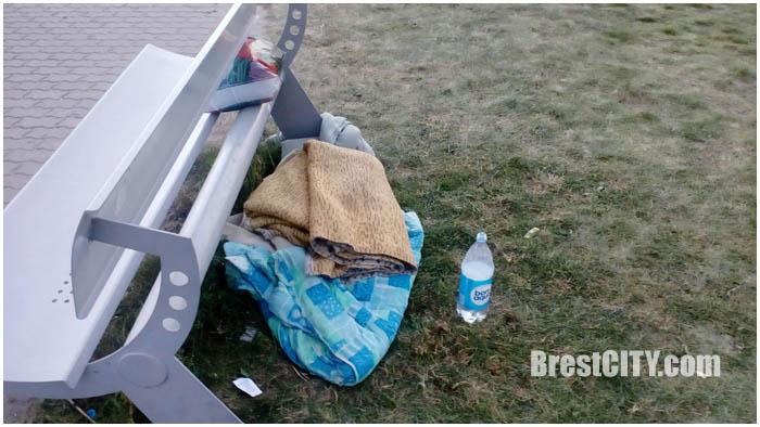 Беженцы из Чечни оставили лагерь возле белорусско-польской границы. Фото BrestCITY.com