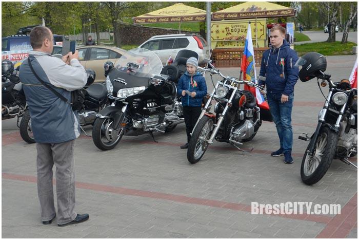 Ночные волки в Брестской крепости. Фото BrestCITY.com