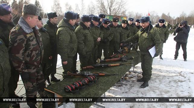 Практические занятия по территориальной обороне в Уручье