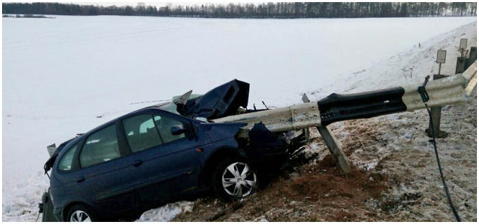 Авария под Барановичами отбойтинк прошил машину