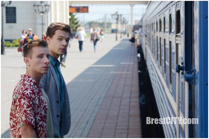 Партизан-фильм. Съемки на вокзале в Бресте 18 августа 2016. Фото BrestCITY.com