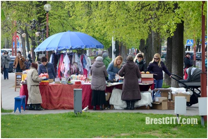 Пасхальная ярмарка в Бресте на Гоголя. Фото BrestCITY.com
