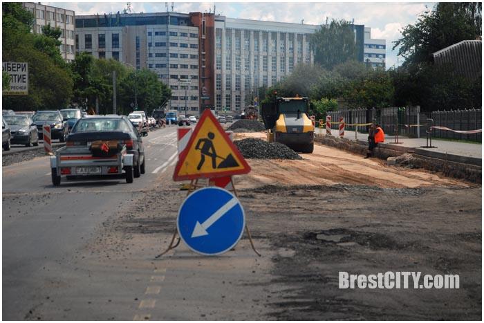 Ремонт улицы Пионерской в Бресте. Фото BrestCITY.com