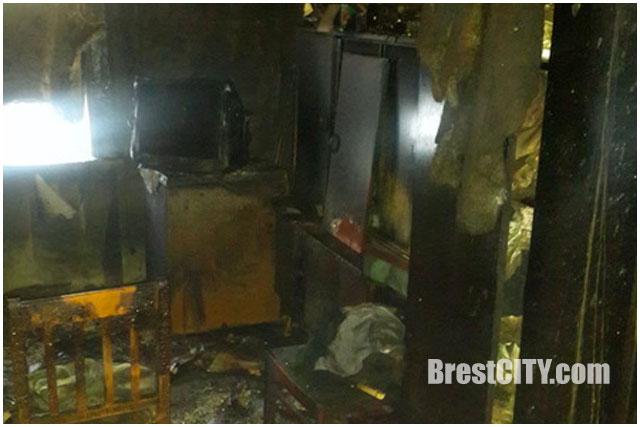 Пожар в Бресте по переулку Полевому