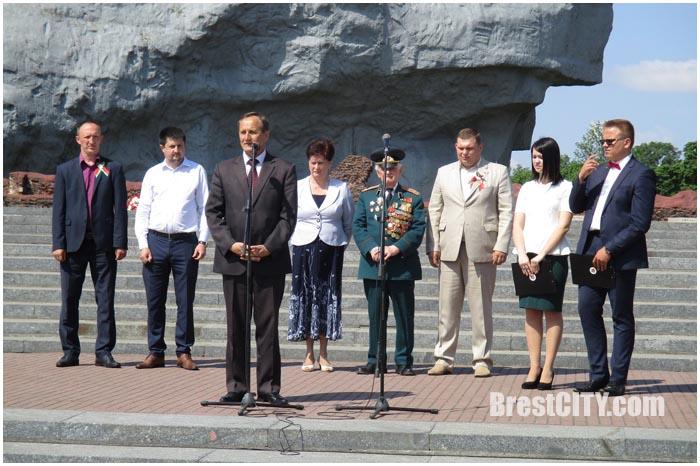 Торжественный прием в члены БРСМ в крепости