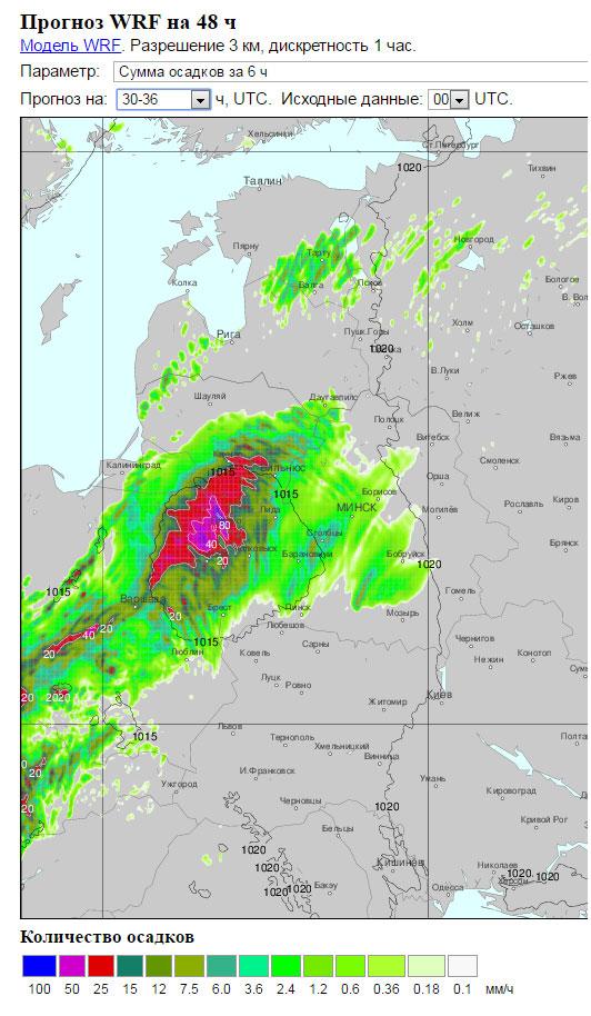 Прогноз погоды на 20 июня 2016 в Бресте