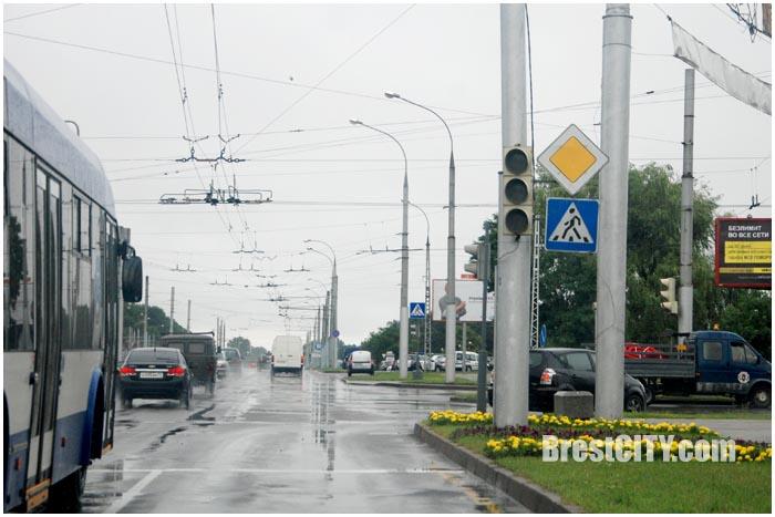 Радуга в Бресте. Фото BrestCITY.com