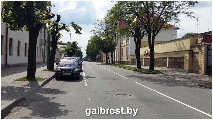 Новая разметка на Орджоникидзе в Бресте
