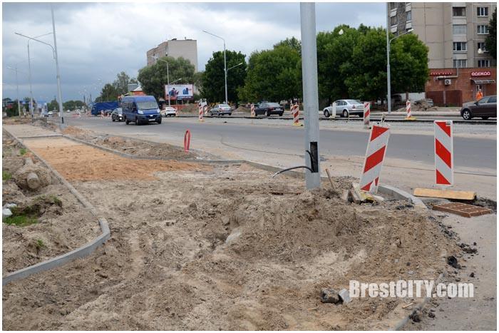 Реконструкция ул.Пионерской в Бресте. Август 2016. Фото BrestCITY.com