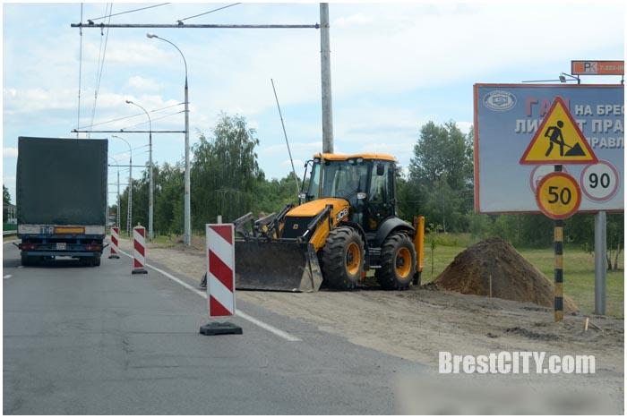 Ремонт дороги по улице Московской в Бресте