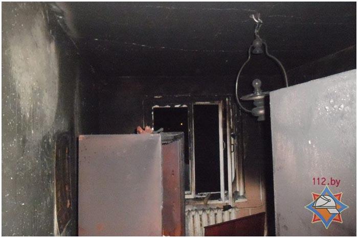 Пожар в Бресте в квартире на Советской конституции