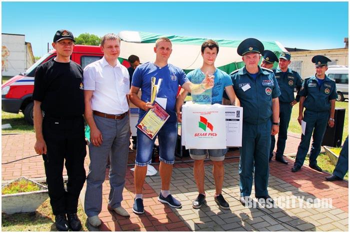Соревнования пожарных дружин в Бресте