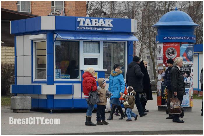 Табачный ларек в Бресте в микрорайоне Ковалево