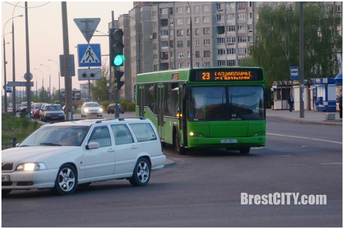 Яндекс. Транспорт в Бресте. Как ходят автобусы и маршрутки