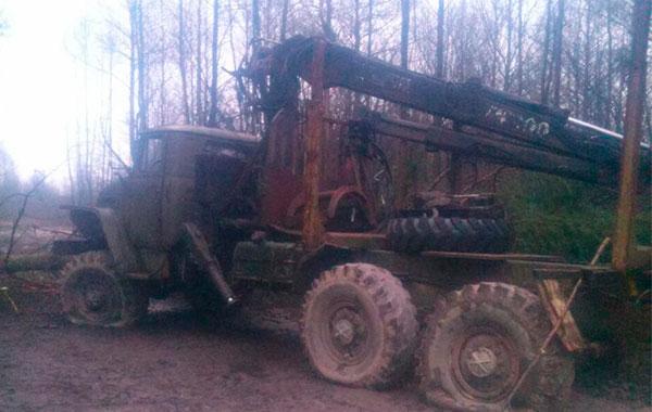 Попытка угона грузовика через границу в Украину