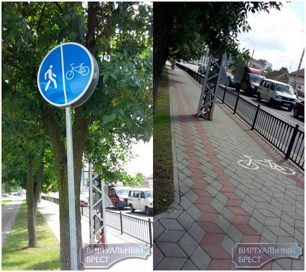 Инспектор ГАИ выписал штраф велосипедистке, которая ехала не по велодорожке, а по тротуару