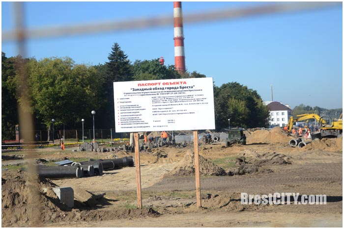 Западный обход в Бресте. Расширение проспекта Машерова. Фото BrestCITY.com