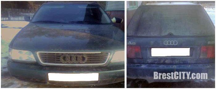 Угнанный автомобиль АУДИ