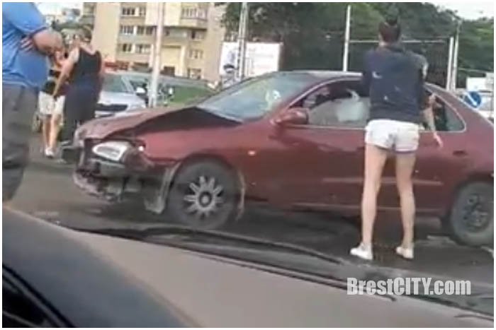 Две аварии за 10 минут в Бресте