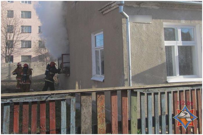 Пожар в Барановичах 4 апреля