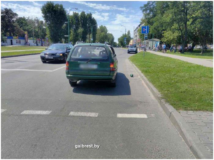 Авария на Жукова в Бресте 19 июля