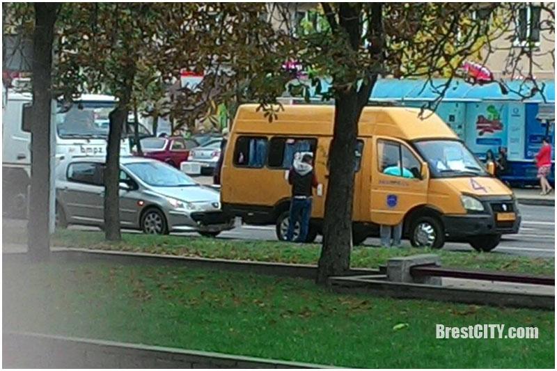 Авария на проспекте Машерова в Бресте